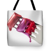 Dripping Lipstick Tote Bag by Garry Gay