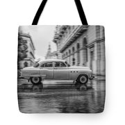Driving In The Rain Tote Bag by Erik Brede