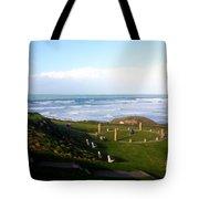 Droskyn Sundial Perranporth Tote Bag by Terri  Waters