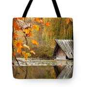 Duck's House Tote Bag by Evgeni Dinev