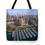 Dusable Harbor Chicago Tote Bag by Steve Gadomski