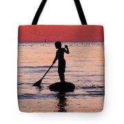 Dusk Float - Sunset Art Tote Bag by Sharon Cummings