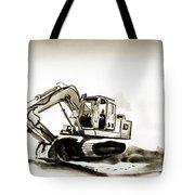 Duty Dozer in Sepia Tote Bag by Kip DeVore