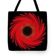 Dying Amaryllis Flower Mandala Tote Bag by David J Bookbinder