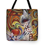 Dynamic Blossoms Tote Bag by Ricardo Chavez-Mendez