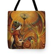 Dynamic Oriental Tote Bag by Ricardo Chavez-Mendez