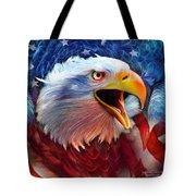 Eagle Red White Blue 2 Tote Bag by Carol Cavalaris