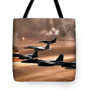 Eagles And Falcons Tote Bag by Benjamin Yeager