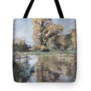 Early Autumn On The River Test Tote Bag by Caroline Hervey-Bathurst