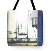 Early Morning Camden Harbor Maine Tote Bag by Carol Leigh