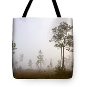 Early morning fog Tote Bag by Rudy Umans