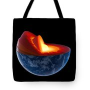 Earth Core Structure - Isolated Tote Bag by Johan Swanepoel