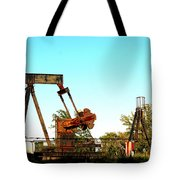 East Texas Oil Field Tote Bag by Kathy  White