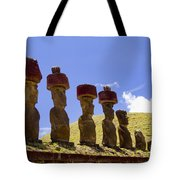 Easter Island Statues  Tote Bag by David Smith