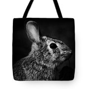 Eastern Cottontail Rabbit Portrait Tote Bag by Rebecca Sherman