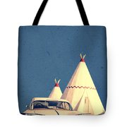 Eat And Sleep In A Wigwam Tote Bag by Edward Fielding
