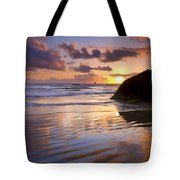 Ecola Sunset Tote Bag by Mike  Dawson