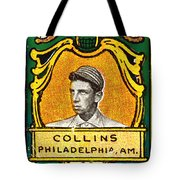 Eddie Collins Philadelphia Athletics Baseball Card 1025 Tote Bag by Wingsdomain Art and Photography