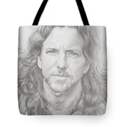 Eddie Vedder Tote Bag by Olivia Schiermeyer