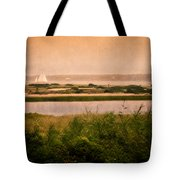 Edgartown Lighthouse Tote Bag by Bill  Wakeley