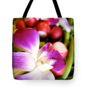 Edible Flowers Tote Bag by Jacqueline Athmann