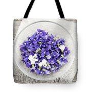 Edible Violets  Tote Bag by Elena Elisseeva