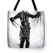 Edward Scissorhands - Johnny Depp Tote Bag by Ayse Deniz
