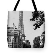 Eiffel Tower Black And White 4 Tote Bag by Andrew Fare