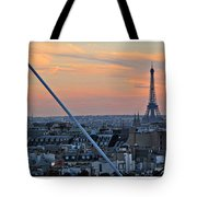 Eiffel Tower From Above Tote Bag by Joan  Minchak
