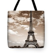 Eiffel Tower In Sepia Tote Bag by Elena Elisseeva