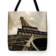 Eiffel Tower Paris France Black and White Tote Bag by Patricia Awapara