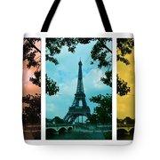 Eiffel Tower Paris France Trio Tote Bag by Patricia Awapara