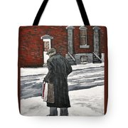Elderly Gentleman  In Pointe St. Charles Tote Bag by Reb Frost