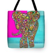 Elefantos - 01ac02aa Tote Bag by Variance Collections