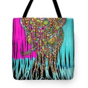 Elefantos - Cr01ac02 Tote Bag by Variance Collections