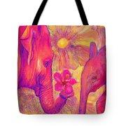 Elephant Love Tote Bag by Jane Schnetlage