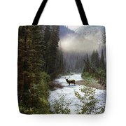 Elk Crossing Tote Bag by Leland D Howard