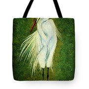 Ellie Egret Tote Bag by Adele Moscaritolo