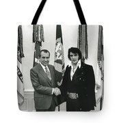 Elvis And Nixon Tote Bag by Unknown