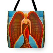 Emeliah Angel Of Inner Journeys Tote Bag by Kevin Chasing Wolf Hutchins