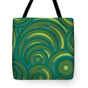 Emerald Green Abstract Tote Bag by Frank Tschakert