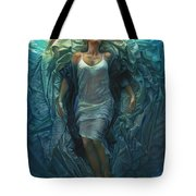 Emerge Painting Tote Bag by Mia Tavonatti