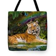 Enchaned Tigress Tote Bag by Alixandra Mullins