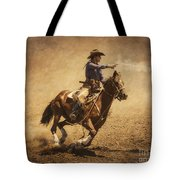 End Of Trail Mounted Shooting Tote Bag by Priscilla Burgers
