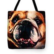 English Bulldog - Painterly Tote Bag by Wingsdomain Art and Photography