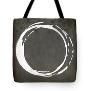 Enso No. 107 Gray Brown Tote Bag by Julie Niemela