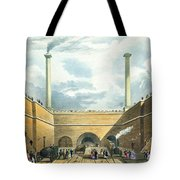 Entrance Of The Railway At Edge Hill Tote Bag by Thomas Talbot Bury
