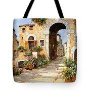 Entrata Al Borgo Tote Bag by Guido Borelli