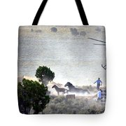 Escape From Butte Valley Trapsite Triple B Tote Bag by Afroditi Katsikis