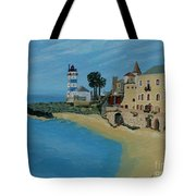 European Lighthouse Tote Bag by Anthony Dunphy
